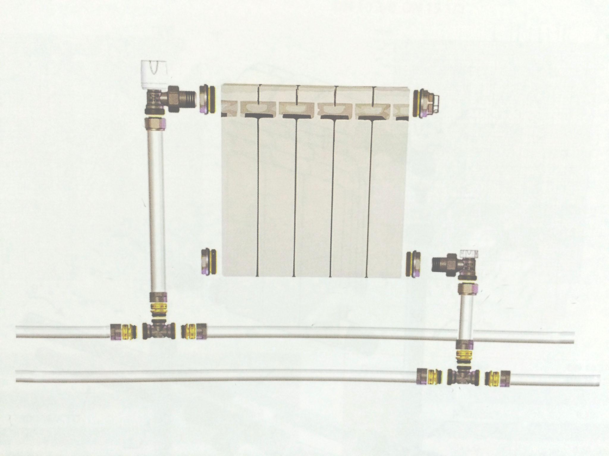 подключение батареи, батарея двухтрубная система, схема подключения радиатора, радиатор в двутрубной системе отопления, установка радиатора на стене двутрубная система, батарея в квартире схема, батарея в частном доме схема, схема подсоединения батареи в доме