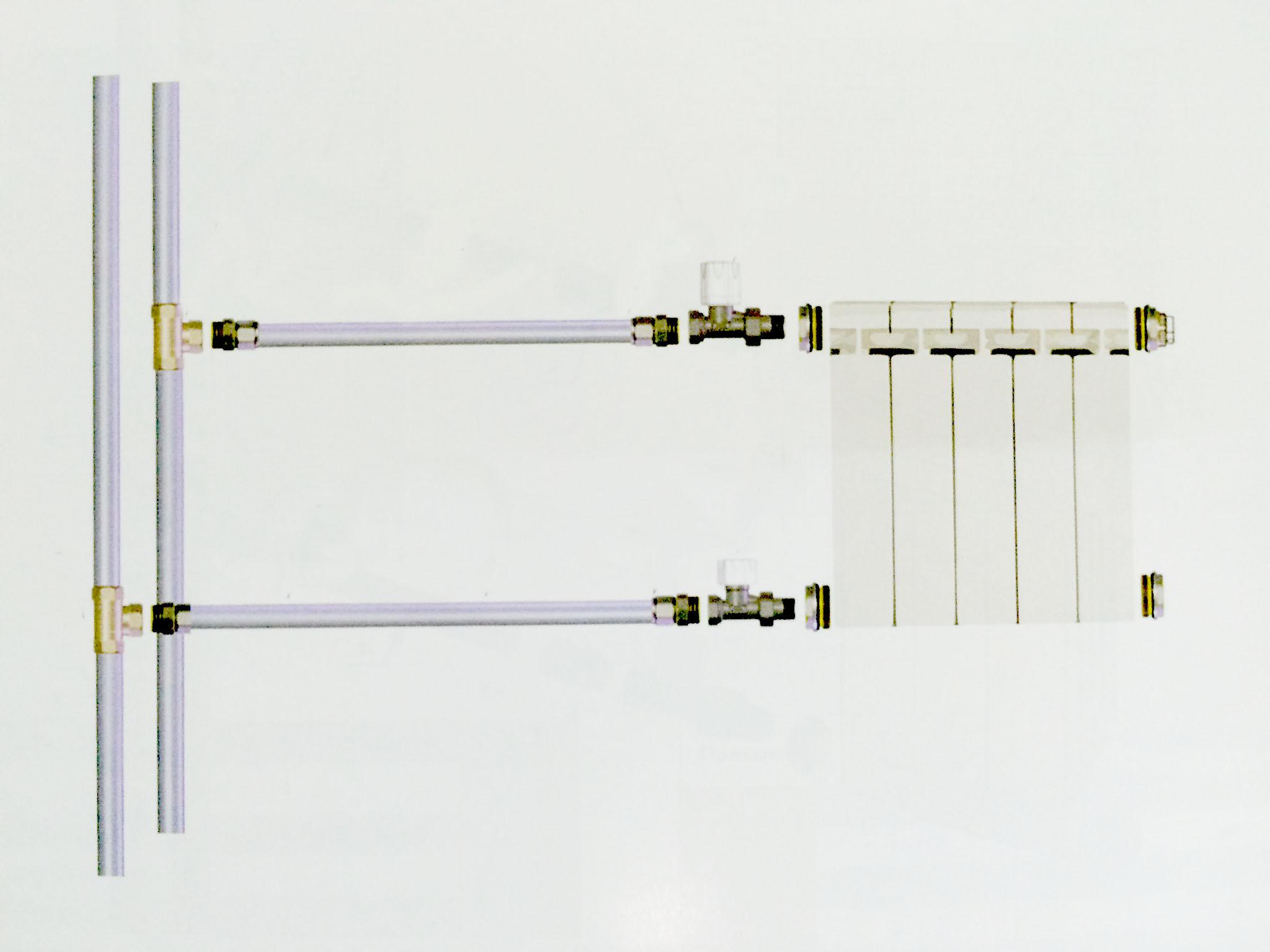 подключение батареи, батарея к стояку, схема подключения радиатора, радиатор у стояка, установка радиатора у стояка, батарея в квартире схема